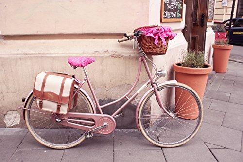 BIKEBELLE® CASABLANCA Retro Fahrrad Fahrradtaschen (Klassisch Retro Style Cremeweiß Braun) Cremeweiß