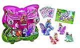 Inception Pro Infinite Filly Schmetterling - Mutter Set - 3 Baby Filly Schmetterling - 4 Sammelkarten - Blister - Spielzeug - Kinder - Pony - Geschenkidee