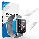 iVoler [Pack de 8] Protection écran pour Apple Watch Series 4 44mm / 42mm (Series 3/2 / 1), Couverture Complète [Liquide Installation] [Anti-Rayures] [sans Bulles] TPU Film Protecteur