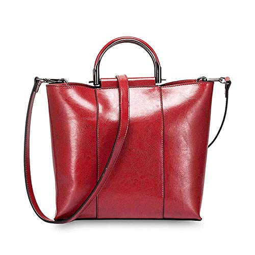 Kieuyhqk Frauen-Leder-Spitzen-Griff-Handtaschen-Schulter-Crossbody-Tasche mit entfernbarem justierbarem Bügel für das Arbeiten der beiläufigen Handtasche der täglichen Frauen Schulter-Handtasche
