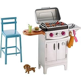Barbie Mattel DVX48 - Möbel Außenbereich: Grill Set, Ankleidepuppen-Zubehör