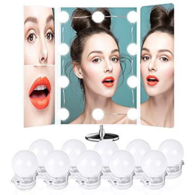 Hollywood Style LED, Beauty Star Vanity Mirror Lights Kit with Touch Dimmer Switch and Power Supply Plug in Lighting Fixture Strip for Makeup Dressing Table, 10 LED Bulbs ( Mirror Not Included ) from Beauty Star