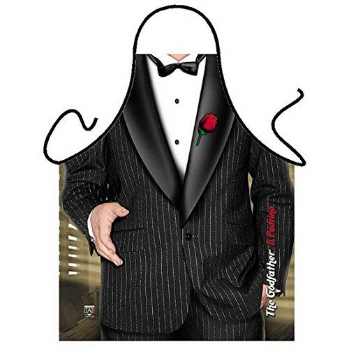 Lustige Schürze - Pate - Witzige Verkleidung für Karneval - Mafiaboss - als Geschenk zum Fasching im Set mit (Kostüme Mafia/pate)