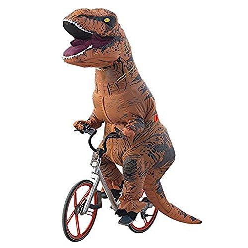 Ohlees® Men's T-Rex Inflatable Dinosaur Costume aufblasbare dinosaurier Anzüge und Kostüme festival party park für erwachsene größe (braun)