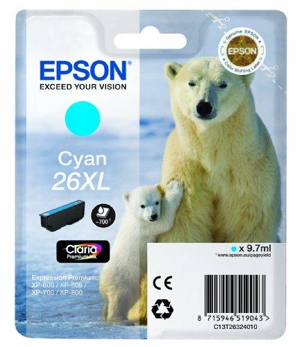 Preisvergleich Produktbild Epson T2632 Tintenpatrone Eisbär XL, Singlepack cyan