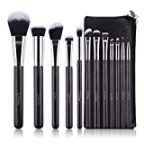 DUcare 12Pcs Make-up Pinsel Set Vegan Premium Synthetic Soft Beauty Make Up Brushes schminkpinsel set mit tasche