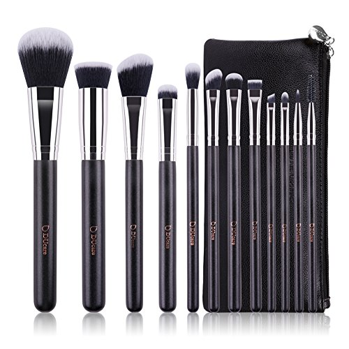 DUcare 12Pcs Make-up Pinsel Set Vegan Premium Synthetic Beauty Make Up Brushes