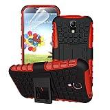 betterfon | Outdoor Handy Tasche Hybrid Case Schutz Hülle Panzer TPU Silikon Hard Cover Bumper für Samsung Galaxy S4 Rot