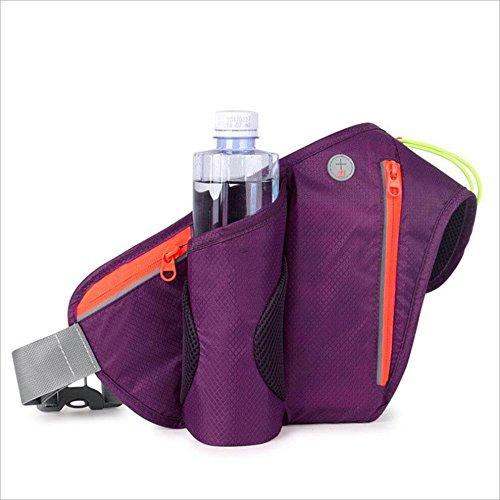 Melodycp und Leicht zu Run Radfahren im Freien Bergsteigen Multifunktional Wasser Flasche Taschen für Damen und Herren Running Handy Gürtel Violett