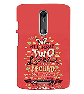 printtech Realize Quote Back Case Cover for Motorola Moto X3::Motorola Moto X (3rd Gen)