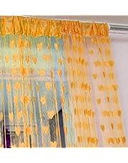 Geo Nature 2 Piece Eyelet Polyester Door Curtain - 7ft