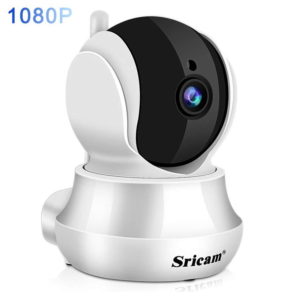 Sricam Cámaras de Vigilancia WiFi Interior 1080P HD, Cámara IP Intercomunicador bidireccional, Visión Nocturna, Detección de Movimiento, Monitor para casa, bebé y mascotas, Compatible con iOS Android