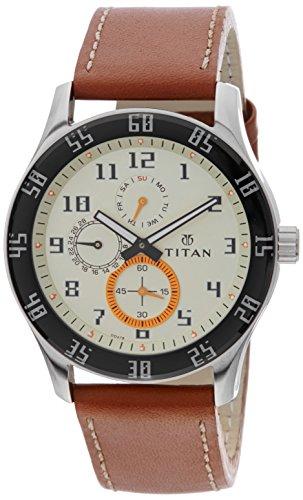 Titan Octane Analog Cream Dial Men's Watch - 1632SL02 image