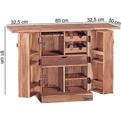 FineBuy Hausbar Massivholz Akazie - 2