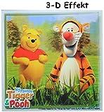 3-D Effekt ! Fliesensticker - Winnie The Pooh Bär mit Tigger - Auch als Untersetzer / Wandtattoo - Badezimmer - Badezimmersticker / Badezimmer Deko / Deko - Fliesen wasserfester Sticker - Aufkleber