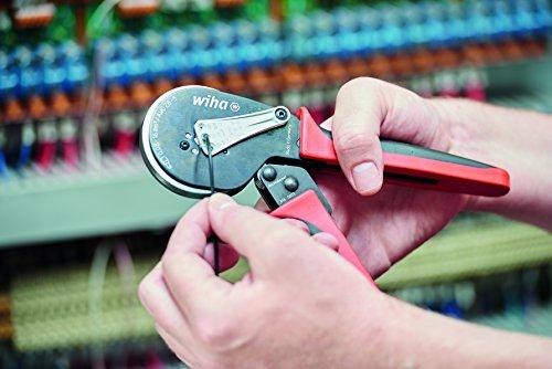 Wiha Crimpwerkzeug automatisch (41246), Crimpzange für Aderendhülsen, Elektrikerzange Kabel, Adernhülsenzange, Presszange für sauberen Abschluss am Kabel, Kabelzange für Adernhülsen