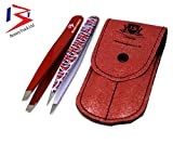 51UctXwDcjL. SL160  - BeautyTrack® - Red Tweeze Set With Leather case, pefectly aligned,Hand made Stainless Steel, England Flag design, slant & Point Tweezers Set Reviews and price compare uk