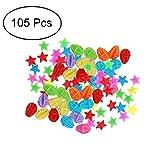 TOPCABIN Fahrrad Speichen Clips Klicker,105 PCS mit verschiedenen Designs niedlich Speichen klicker Fahrrad Zubehör für Kinder Fahrradspeichen Dekorationen Geschenk für Mädchen Speiche Perlen