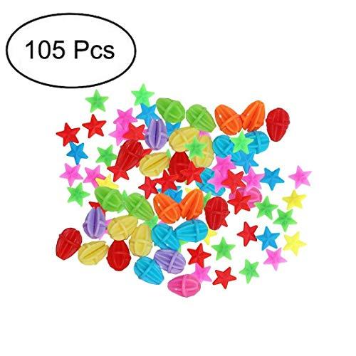 TOPCABIN Fahrrad Speichen Clips Klicker,105 PCS mit verschiedenen Designs niedlich Speichen klicker Fahrrad Zubehör für Kinder Fahrradspeichen Dekorationen Geschenk für Mädchen Speiche Perlen -