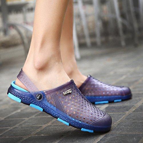 LXXAMens Estate Spiaggia Maschio Pantofola Casual Sandali Scarpe Sportive All'aperto Due Usi Blue