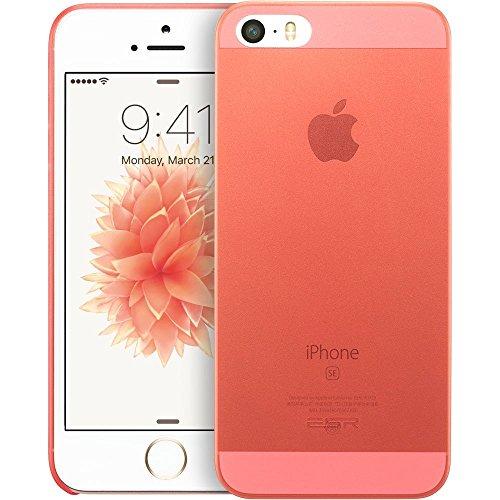 iPhone SE Hülle, ESR® [0.4mm Ultra Dünne] Lichtdurchlässig Polypropylen Schutzhülle für iPhone SE/5S/5/5C (Grün) Rot