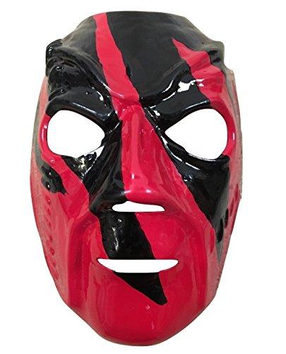 Halloween Karneval Cosplay Schwarz und rot Cosplay Das Gesicht Bedeckend Maske - universell Größe WWE Wrestling Kostüm geschnürt Kostüm Hell In A Handy Debut - mit Gummiband