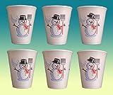 2000 STÜCK THERMOBECHER Motiv Schneemann 0,2 Liter mit Füllstrich (Eichstrich);TEE;BECHER;GLÜHWEIN;GLÜHWEINBECHER;Weihnachten;Weihnachtsmarkt;Punschbecher