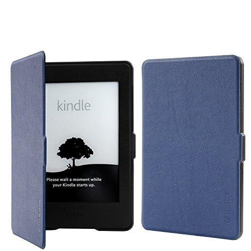 Kindle Paperwhite Case, leafbook Premium más flaca y ligera manguita de piel con encendido/extinto instintivo para Amazon All-New Kindle Paperwhite (cerca de todas las versiones de 2012, 2013, 2014y 2015)