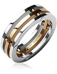 Taffstyle® Schmuck Ring 3-teilig Herren & Damen Partnerring Freundschaftsring