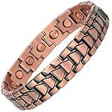 MPS® Kupfer reichen, Magnetische Armband mit Klappschließe, Leistungsstarke 3000 Gauß Magneten, mit gratis geschenk geldbörse
