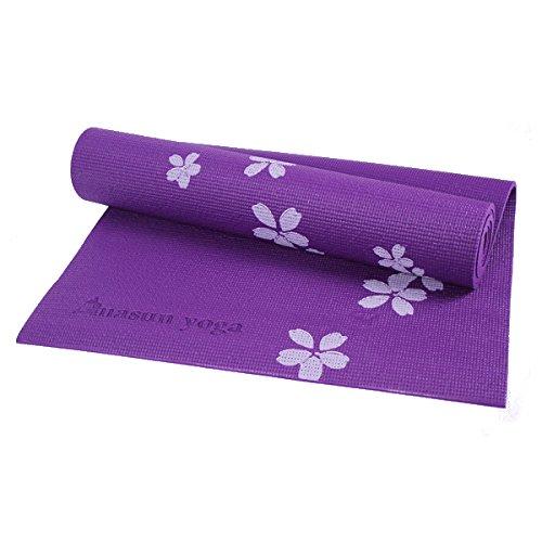 Bluelover 6Mm PVC Bedruckt Yoga Mat Non-Slip Verdickung Schäumende Fitness Übungs Matte Für Anfänger - Lila