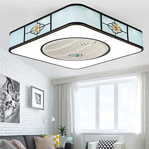 Das Ventilatorlicht Deckenventilatoren LED Licht Lampe Beleuchtung Mit Fernbedienung Und Dimmfunktion Leise Ultra-Leise Energie Kreative Moderne Kinderzimmer Schlafzimmer Büro Restaurant Dekorativ,B