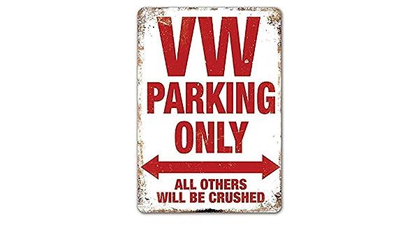 Bar Carlena Mopar Parking Only Plaque m/étallique Vintage en m/étal pour Magasin Maison 20,3 x 30,5 cm