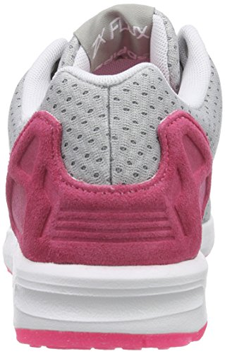 adidas ZX Flux W, Baskets Basses Femme Gris (mgh Solid Grey/ftwr White/solar Pink)