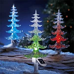 Garden Mile 4x Large Solar Powered Colour Changing Led
