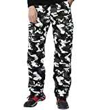 AYG Velour Hose Warm Herren Cargo Pants(gray camo,32)