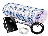 Elektrische Fußbodenheizung BZ-100 Set mit Thermostat - 30 Jahre Herstellergarantie (Thermostat MCS 400 Wlan, 2 m² - 0,5 m x 4,0 m)