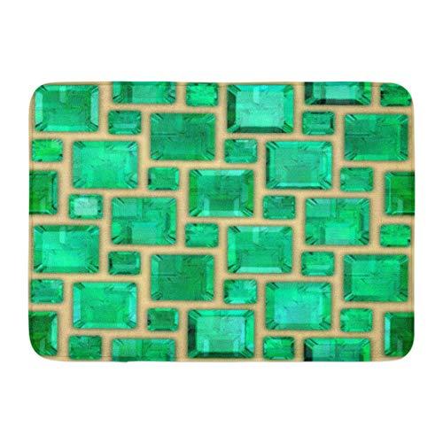 LIS HOME Fußmatten Bad Teppiche Outdoor/Indoor Fußmatte grün Edelstein Smaragde Stein Brillante klare Farbe Kristall Badezimmer Dekor Teppich Badematte -