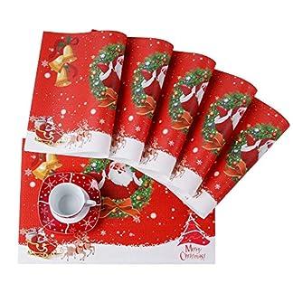 VEWEET 'Christmas' vajilla de Porcelana 18 Piezas | Plato para 6 Personas | Cada uno con 6 Platos de Postre, platillo y Plato Plano