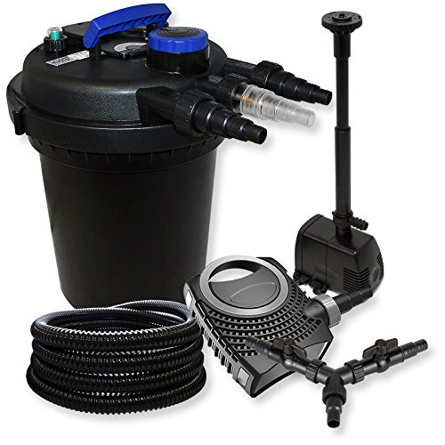 SUNSUN Impresión filtro para estanque Juego 10.000L 11W UVC neo800070W Bomba 25m Manguera springbrunnen