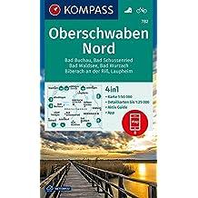 Oberschwaben Nord: 4in1 Wanderkarte 1:50000 mit Aktiv Guide und Detailkarten inklusive Karte zur offline Verwendung in der KOMPASS-App. Fahrradfahren. (KOMPASS-Wanderkarten, Band 782)