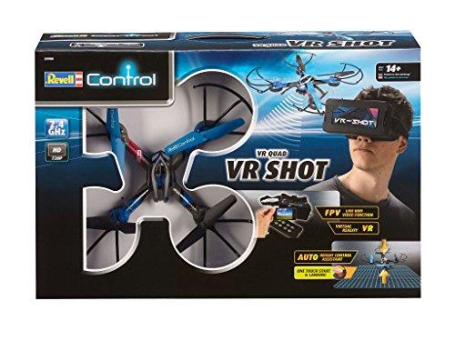 Revell Control RC VR Quadrocopter mit FPV Kamera und VR-Brille, Live-Übertragung über WiFi, Video-Stream aufs eigene Smartphone, ferngesteuert mit 2,4 GHz Fernsteuerung, Wechsel-Akku, VR SHOT 23908 - 6