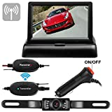 Wireless Backup Camera and monitor Kit Waterproof License Plate Rear View Camera 9V-24V