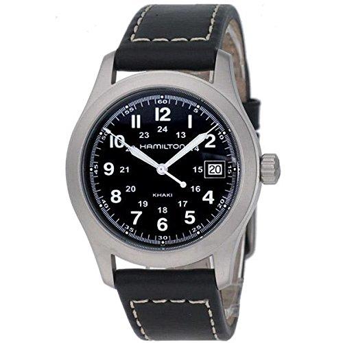 Hamilton h684812–Uhr, Gurt-Leder Lammfell schwarz