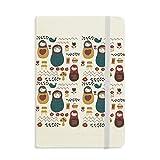 DIYthinker Russland-Puppen-Blumen-Plakat russische Matroschka Notebook Stoff Hard Cover Klassisches Journal Tagebuch A5 A5 (144 X 210mm) Mehrfarbig