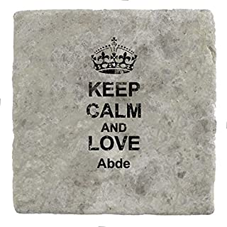 Keep Calm and love Abde - Marble Tile Drink Coaster