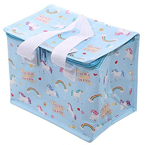Unicorn Design Thermal Insulated lunch bag Cool Bag box with handles by Puckator - Gift Bag Dog
