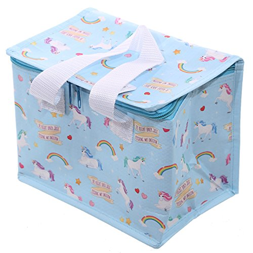 Unicorn Design Thermal Insulated lunch bag Cool Bag box with handles by Puckator