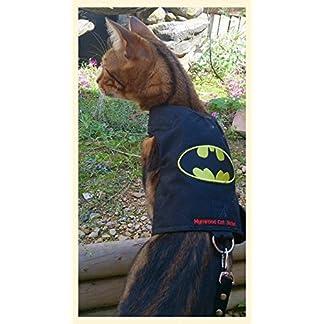 mynwood cat jacket/harness batman adult cat - escape proof Mynwood Cat Jacket/Harness Batman Adult Cat – Escape Proof 51Ud0wyiqPL