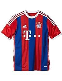 Adidas Teamtrikot FC Bayern München Replica Heim - Camiseta de equipación de fútbol para niño, color True Red/Collegiate Royal/White, talla 14 años (164 cm)